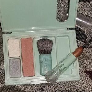 Clinique Compact Makeup Eyeshadow Blush Lipstick